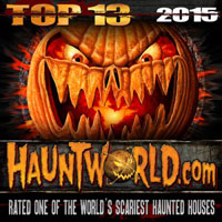 Cutting Edge Haunted House voted Top 13 Haunted House for 2015 on HauntWorld.com!