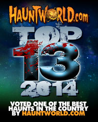 Cutting Edge Haunted House voted Top 13 Haunted House for 2014 on HauntWorld.com!