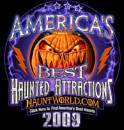 Cutting Edge Haunted House voted one of America's Best Haunted Attractions 2008 & 2009 by HauntWorld.com!
