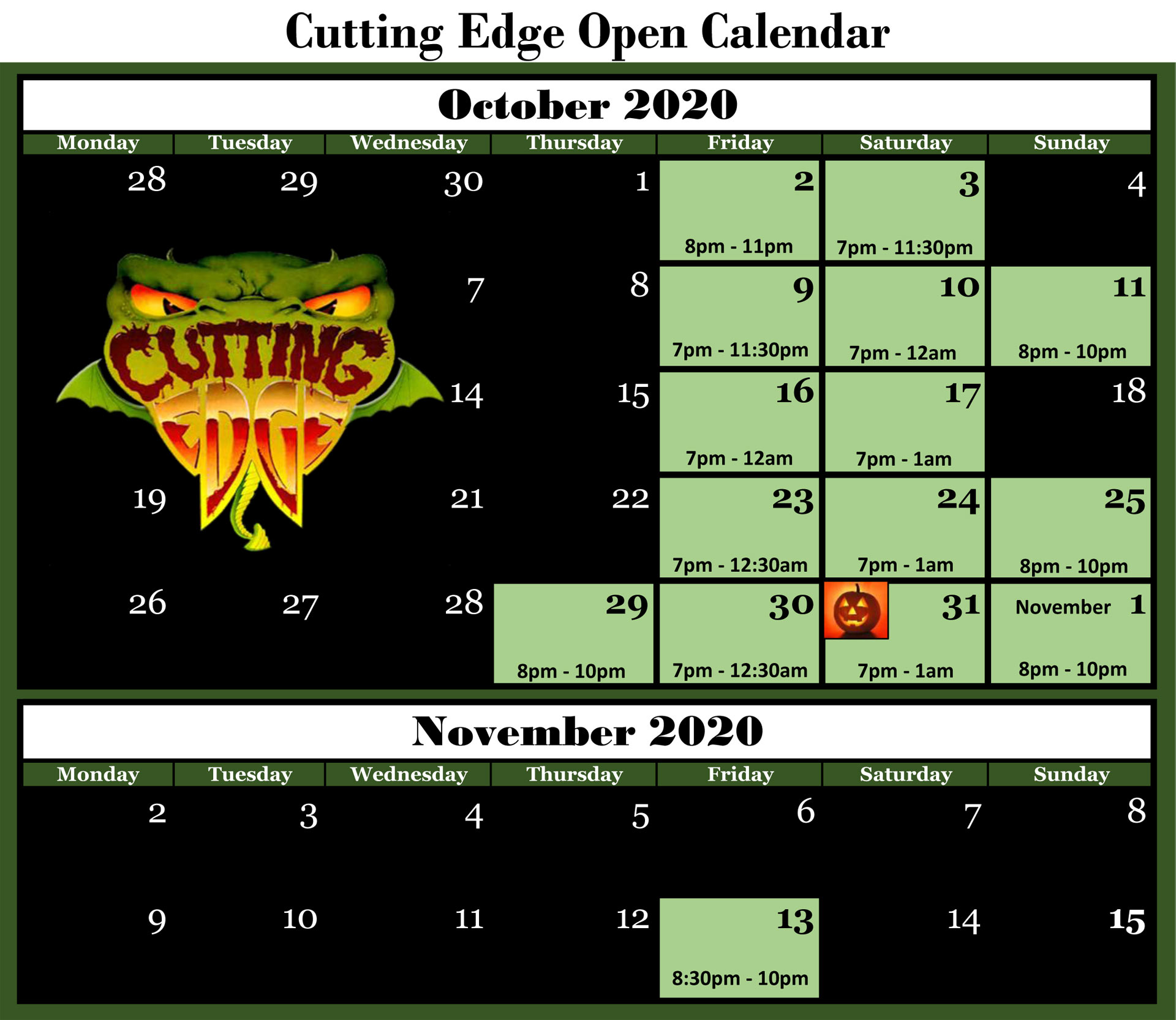 Click here to buy Cutting Edge Haunted House tickets!